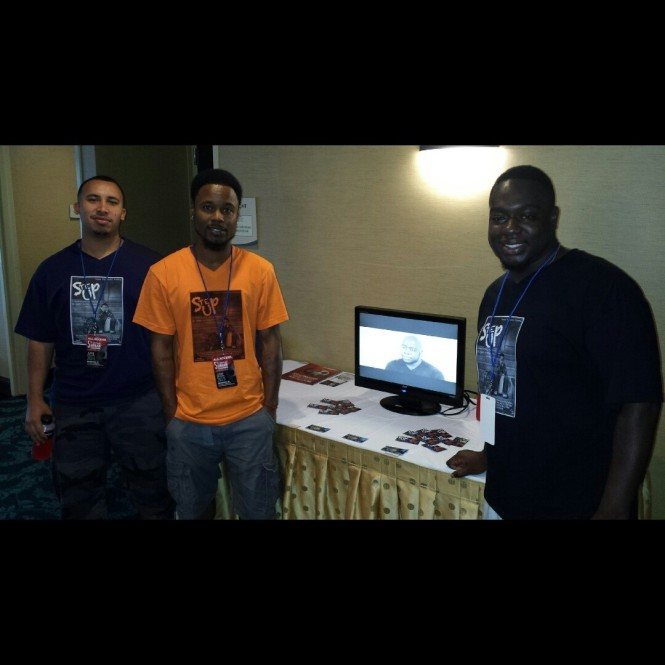 Promoting the film in Philly with  Co Producers Will Medero (left) , Hakim Hill, and Noube Rateau (right) (Director)