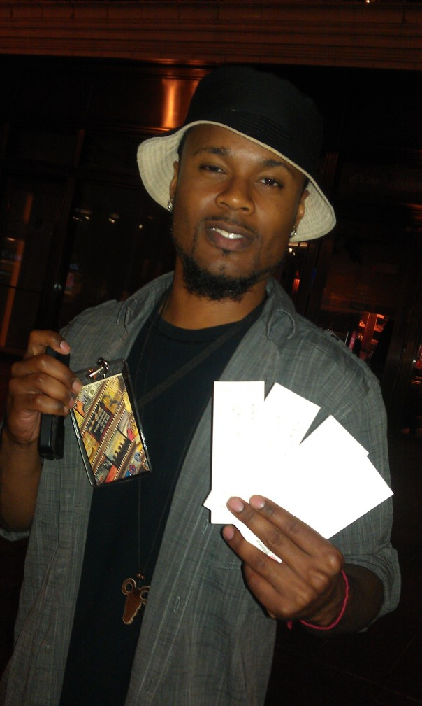 "Co Producer Hakim Hill holding ""Step Up"" official tickets"